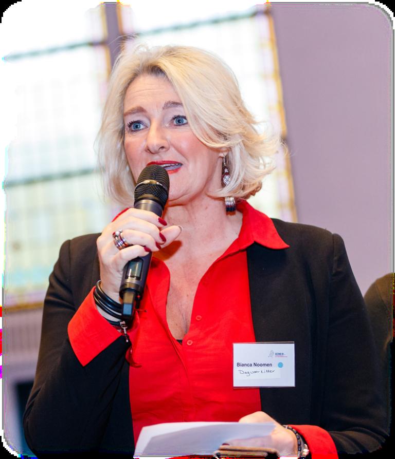 Bianca Noomen dagvoorzitter, gespreksleider